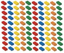 ☀️NEW! Lego 2x4 Bricks 100 Count, 5 Assorted Colors RED Orange Yellow Blue Green