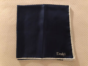Drakes Silk Pocket Square, Nwot