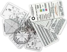 ESEE Set of 7 Instruction White Compass & Map Clear Overlay Training Cards CC