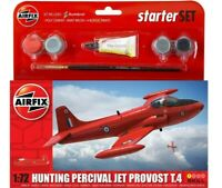 AIRFIX 1:72 HUNTING PERCIVAL JET PROVOST T.4 MODEL AIRCRAFT STARTER SET A55116
