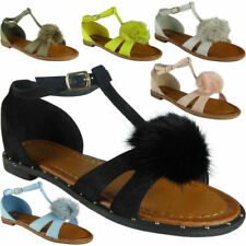 Faux Suede T Bars Casual Flats for Women
