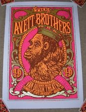 THE AVETT BROTHERS concert gig tour poster 9-9-14 ARCATA 2014 print mike king