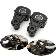 7/8'' 22mm Motorcycle HandleBar Riser Handle Fat Bar Mount Clamps Universal