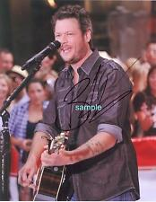 BLAKE SHELTON REPRINT 8X10 AUTOGRAPHED SIGNED PHOTO PICTURE COLLECTIBLE RP
