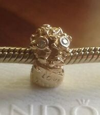 New Pandora Diamond Love Bouquet 14ct Gold Charm 750446D RRP £295 Discontinued