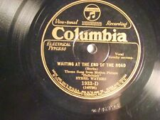 78 : COL 1933 D- ETHEL WATERS -WAITING AT THE END OF THE ROAD/ TRAVV'LIN AL- E+