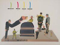 Antonio Segui : Der Zeit Der Krieg - Lithografie Originell Unterzeichnet, 1970