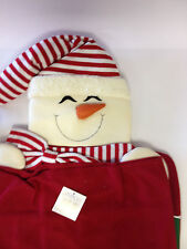 2 x DOUX amusant Bonhomme de neige Noël Table à manger cuisine chaise siège