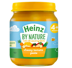 Heinz By Nature Cheesy Tomato Pasta 4+ Months, 120g Weaning Feeding Baby Food