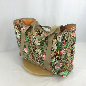 Flamingo LeSportSac Large Weekender Beach Tote Bag with Zippered Clutch