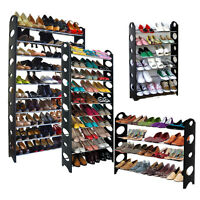 New 4/6/10 Tier Shoe Rack Organizer Tower Storage Holder Wall Bench Shelf Closet
