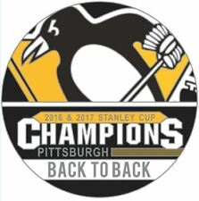 "2017 NHL STANLEY CUP FINAL GAME PIN PITTSBURGH PENGUINS ""BACK TO BACK"" CHAMPIONS"