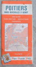 Plan de ville Blay Foldex Poitiers, 1-11 000e et 1- 9 000e pour le centre