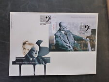PORTUGAL 2015 MUSCIANS JEAN SIBELIUS MINI SHEET FDC FIRST DAY COVER