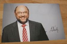 ORIGINAL Autogramm von Martin Schulz. pers gesammelt. 20x30 Foto. 100% ECHT
