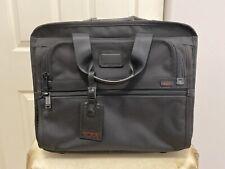 TUMI Wheeled Alpha Ballistic Black Travel Briefcase Laptop Bag 26102DH New!