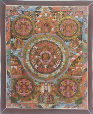 Five Gold Tone Mandala of Buddha Genuine Hand-painted Art Canvas Sale b71