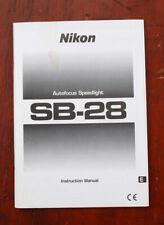 NIKON SPEEDLIGHT SB-28 INSTRUCTION BOOK/213718