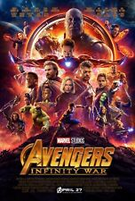 "Avengers: Infinity War (2018) Movie Silk Fabric Poster 11""x17"" 24""x36"""
