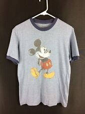 Disneyland Walt Disney World Men's Micky Mouse T-Shirt Size Small Blue