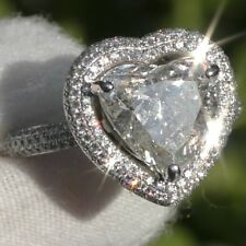 Certified 4.40ct Natural Diamond Solitare ESTATE Engagement 18K WHITE GOLD RING!