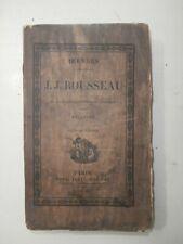 RARE Old Book melanges Rousseau 1826