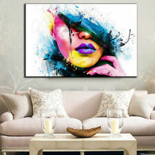 Large Wall Art Canvas Oil Abstract Painting Modern Sexy Women Face 60x80cm