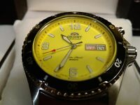 Orient Mako I Automatic Diver's 200m Watch  Yellow Dial