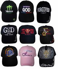 Christian  Baseball Caps  Assorted Messages  6 Pc Lot Embroidered (ECCap-6*)