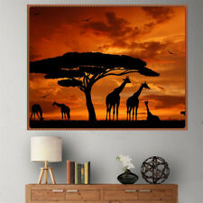 DIY 5D Diamond Painting tramonto giraffe Ricamato a punto croce decorazioni pe