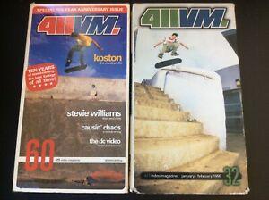 VHS 2 SKATEBOARDING VIDEOS 411 VIDEO MAGAZINE 1999, 2003