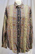 Lizwear Paisley Blouse Shirt Top Long Sleeves Women's Size Large NWT