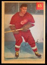 1954 55 PARKHURST HOCKEY #45 TONY LESWICK NM DETROIT RED WINGS Card