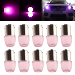 10Pcs Pink 1156 1141 BA15S LED SMD 1.5W Light Bulb Reverse Parking Interior Lamp