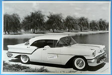 """12 By 18"""" Black & White Picture 1957 Oldsmobile 88 Holiday Golden Rocket 4 Dr."""