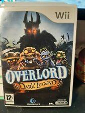 jeu wii Overlord dark legend- complet - disk neuf