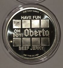 Oh Boy! Oberto Beef Jerky 75th Anniversary 1 Troy Oz .999 Fine Silver Round Coin