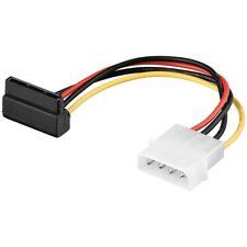 """Strom-Kabel 1x SATA-Stecker 15-polig gewinkelt an 1x 5¼"""" Stecker 0,13m"""