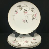 Set of 3 VTG Dinner Plates by Noritake China Arden 5603 Pink Floral Japan
