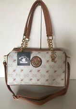 6245b16ae59f NEW BEVERLY HILLS POLO CLUB BEIGE CONVERTIBLE BOWLER SATCHEL CROSSBODY  SLING BAG