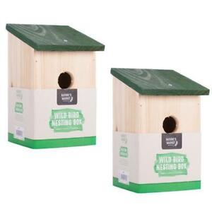 2 x Wooden Nesting Box