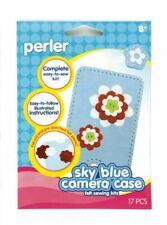 Perler Beads - Perler Felt Sewing Kit, Sky Blue Camera Case - 3 pack