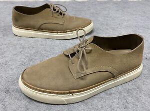 Ermenegildo Zegna Men's 9.5 Beige Suede Lace Up Shoes Tan Sneakers