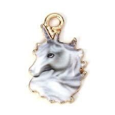 Lead free pewter unicorn charm 1010