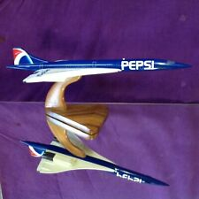 "CONCORDE 1:150 (18"") MODEL IN THE PEPSI LIVERY ON F-BTSD BY BRAVO DELTA MODELS"