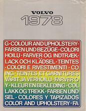 Volvo Colour & Trim 1977-78 UK Market Sales Brochure  66 244 245 264 265
