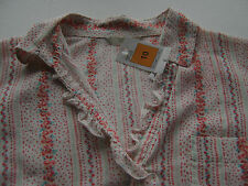 RRP£26 ladies short sleeve blouse shirt M&S peach UK size 10