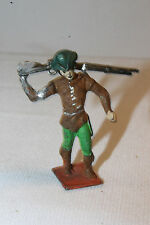 UNUSUAL LEAD FIGURE WITH RIFLE OVER SHOULDER, CUSTOM MADE?