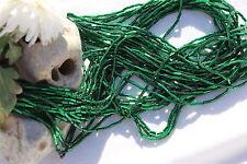 One Hank Hunter Green Silver Lined  #2 Czech Glass Bugle Beads