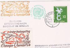 Postal con sello de Europa de Alemania Occ. con viñetas
